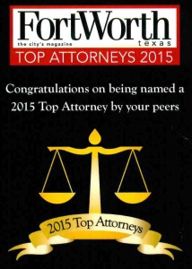 Fort Worth Top Attorney 2015